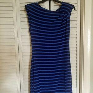Blue striped Calvin Klein dress